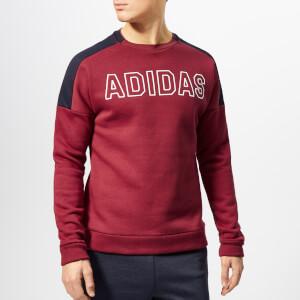 adidas Men's Sport ID Crew Neck Sweatshirt - Noble Maroon