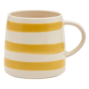 Joules Stoneware Mug - Gold Stripe