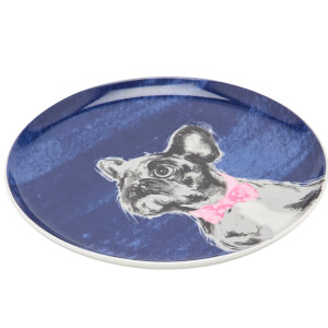 Joules Side Plate - Bow Tie French Bulldog