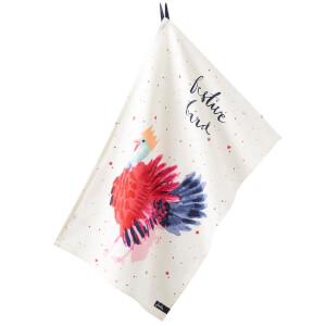 Joules Christmas Tea Towel - Festive Bird