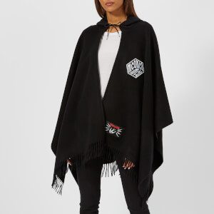 McQ Alexander McQueen Women's Hooded Poncho - Darkest Black