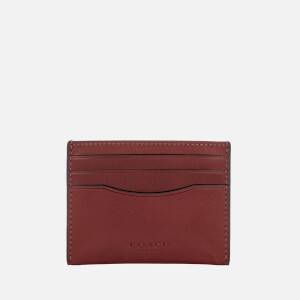 Coach Women's Flat Card Case - Rust