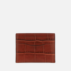 Coach Women's Croc Card Case - Terracotta