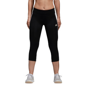 adidas Women's D2M 3 Stripe 3/4 Tights