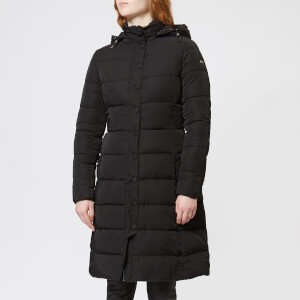 Emporio Armani Women's Long Hooded Puffa Jacket - Black