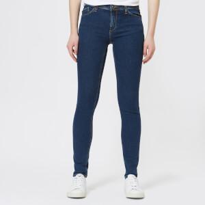 Emporio Armani Women's J28 Mid Rise Jeans - Blue