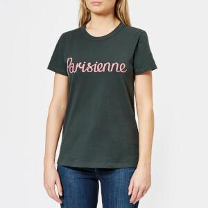 Maison Kitsuné Women's Parisienne T-Shirt - Dark Green