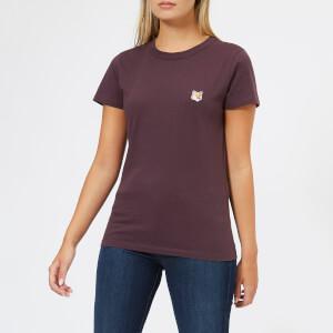 Maison Kitsuné Women's Fox Head Patch T-Shirt - Burgundy