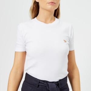 Maison Kitsuné Women's Profile Fox Patch T-Shirt - White