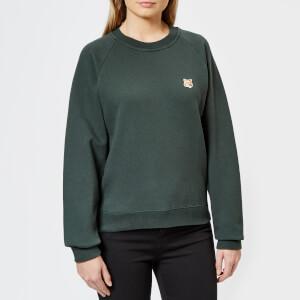 Maison Kitsuné Women's Fox Head Patch Sweatshirt - Dark Green
