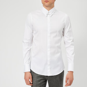 Dsquared2 Men's Stretch Poplin Pin Collar Shirt - White