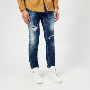 Dsquared2 Men's Slash Light Wash Slim Jeans - Blue