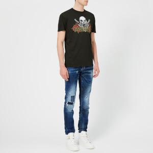 Dsquared2 Men's Pressato Long Fit T-Shirt - Black: Image 3