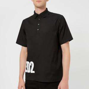 Dsquared2 Men's Stretch Poplin Logo Polo Shirt - Black