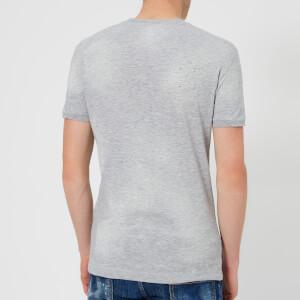 Dsquared2 Men's Destroyed T-Shirt - Grey Melange: Image 2
