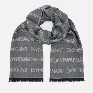 Emporio Armani Men's Scarf - Blue
