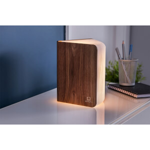 Gingko Large Smart Book Light - Walnut