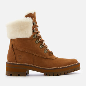 Timberland Women's Courmayeur Valley Shearling Lace Up Boots - Saddle
