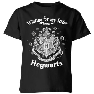 Harry Potter Waiting For My Letter From Hogwarts Kinder T-Shirt - Schwarz