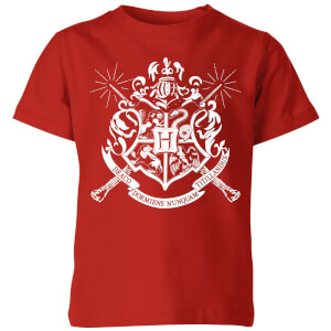 Harry Potter Hogwarts House Crest Kinder T-Shirt - Rot