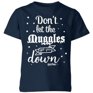 Harry Potter Don't Let The Muggles Get You Down Kids' T-Shirt - Navy