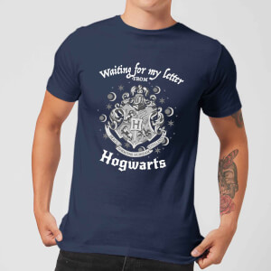 Harry Potter Waiting For My Letter From Hogwarts Herren T-Shirt - Navy Blau