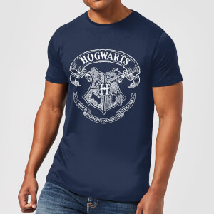 T-Shirt Harry Potter Hogwarts Crest - Navy - Uomo