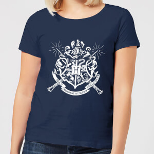 Harry Potter Hogwarts House Crest Women's T-Shirt - Navy