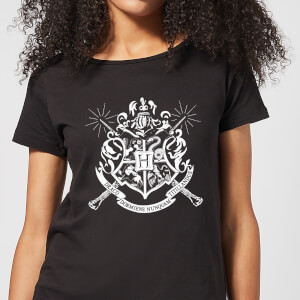 Harry Potter Hogwarts Dames T-shirt - Zwart