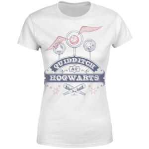 Harry Potter Quidditch At Hogwarts Women's T-Shirt - White