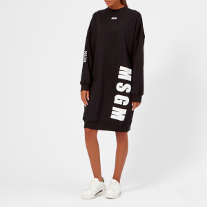 MSGM Women's Logo Sweatshirt Dress - Black