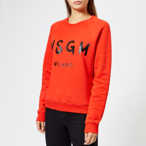 MSGM Women's Graffiti Logo Sweatshirt - Red