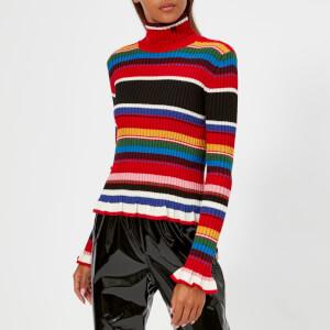 MSGM Women's Multi Stripe Jumper - Multi