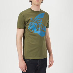 Vivienne Westwood Anglomania Men's Boxy Logo T-Shirt - Green
