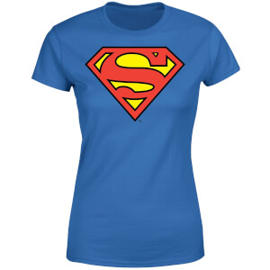 DC Originals Official Superman Shield Damen T-Shirt - Royal Blau
