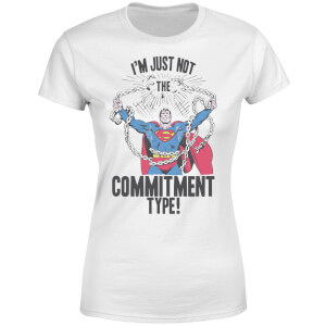 Camiseta DC Comics Superman Commitment Type - Mujer - Blanco