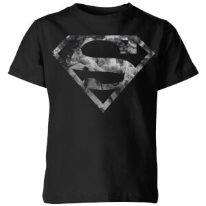 DC Originals Marble Superman Logo Kinder T-Shirt - Schwarz