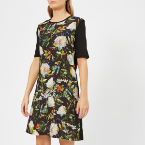 PS by Paul Smith Women's Floral Front T-Dress - Black