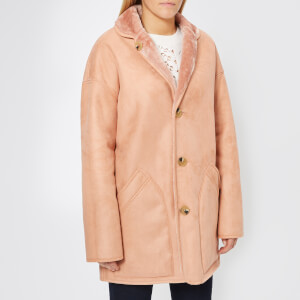 PS by Paul Smith Women's Reversible Shearling Coat - Pink