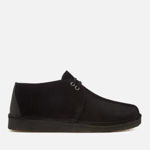Clarks Originals Men's Desert Trek Suede Shoes - Black