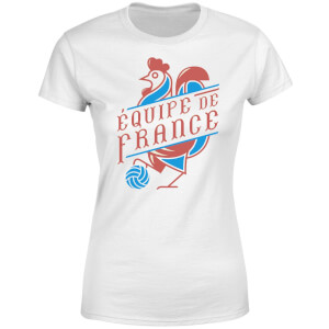 T-Shirt Femme Équipe De France Football - Blanc