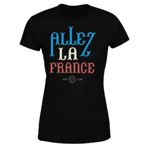 T-Shirt Femme Allez La France Football - Noir
