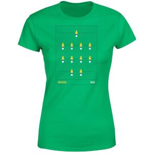 Brazil Fooseball Damen T-Shirt - Grün