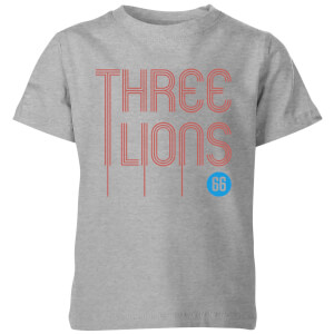 Three Lions Kids' T-Shirt - Grey