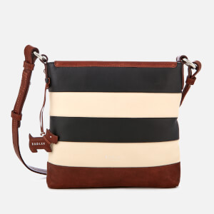 Radley Women's Babington Stripe Medium Zip-Top Cross Body Bag - Black/Oyster