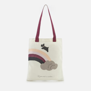 Radley Women's If You Want A Rainbow Canvas Tote Bag - White