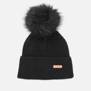 Barbour International Women's Mallory Pom Beanie Hat - Black