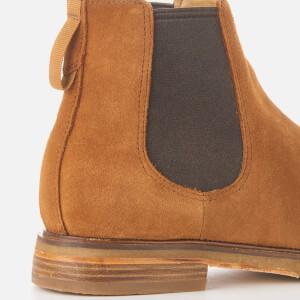 Clarks Men's Clarkdale Gobi Suede Chelsea Boots - Dark Tan: Image 4