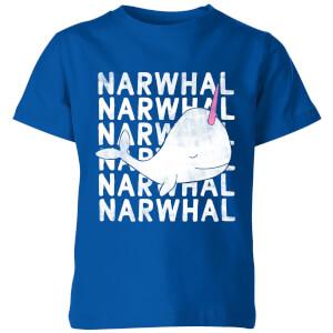My Little Rascal Narwhal Kids' T-Shirt - Royal Blue
