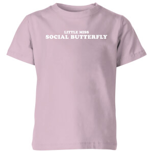 My Little Rascal Little Miss Social Butterfly Kids' T-Shirt - Baby Pink
